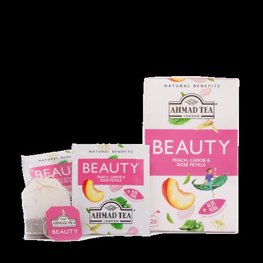 Ahmad Beauty Peach Carob & Rose Petals 20 saszetek