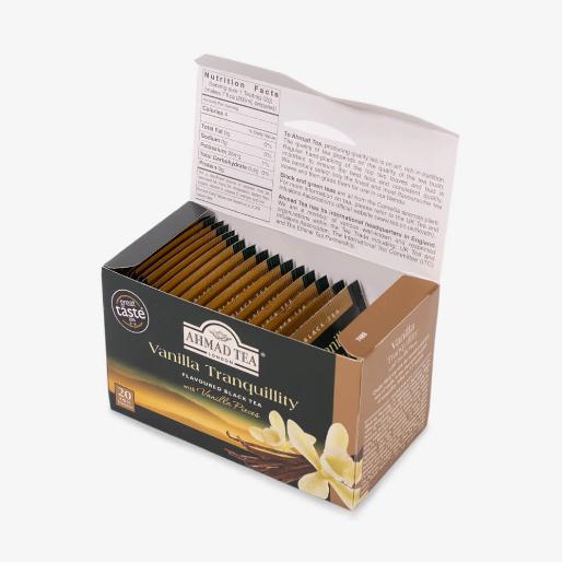 Ahmad Czarna herbata z wanilią 20 saszetek