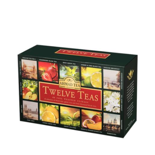 Ahmad Twelve Teas - zestaw 12 smaków 60 kopert