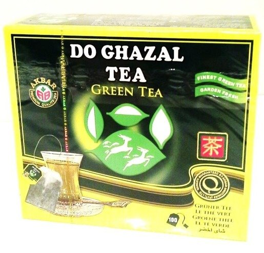 Akbar Do Ghazal Green Tea 100 szt. x 2g herbata saszetki