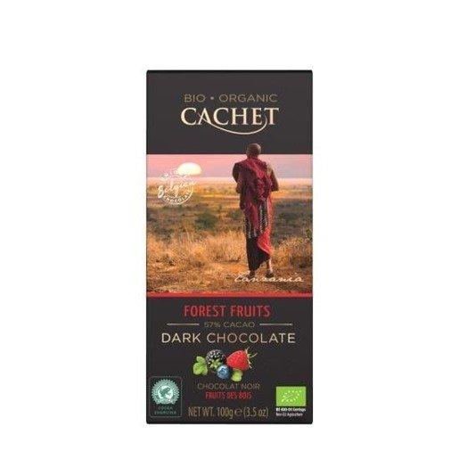 Cachet Ciemna czekolada z owocami leśnymi 100g