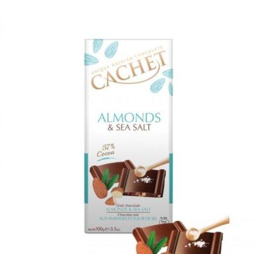 Cachet - Czekolada Almonds & Sea Salt 100g