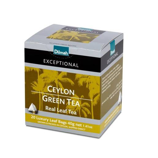 Ceylon Green Tea - 20 piramidek z herbatą