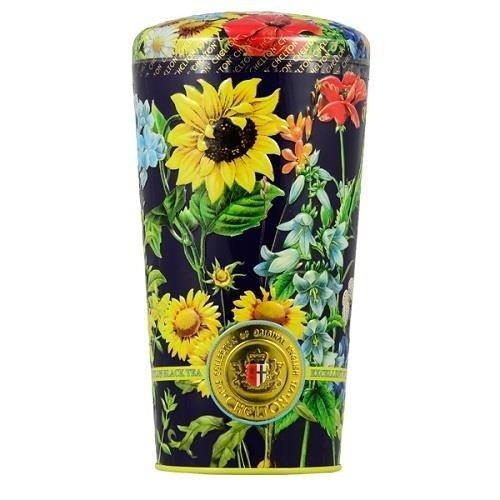 Chelton wazon z polnymi kwiatami 150g puszka herbata sypana