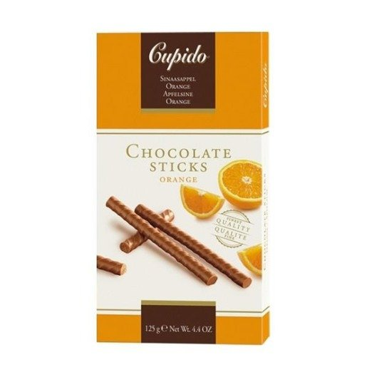 Cupido Chocolate Sticks Orange pomarańczowe 125g