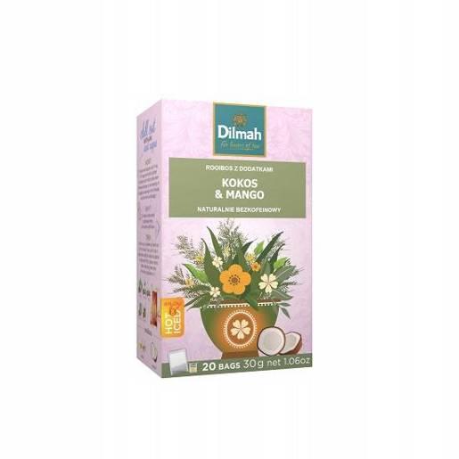 Dilmah Kokos & Mango - rooibos z dodatkami 20 torebek 30g