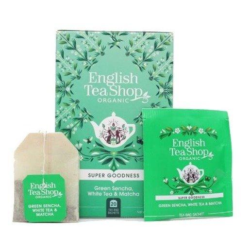 English Tea Shop Green Sencha, White Tea & Matcha - 20 saszetek
