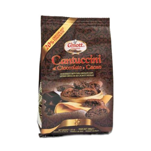 Ghiott Cantuccini ciastka z czekoladą i kakao 200 g