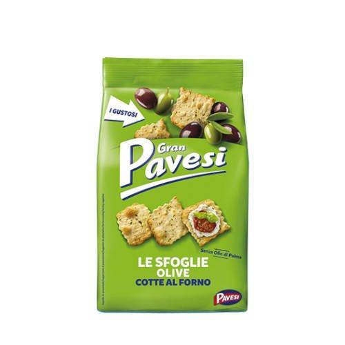 Gran Pavesi Le Sfoglie olive krakersy z oliwkami 160 g
