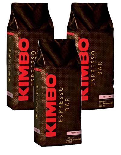 Kimbo Espresso Bar Prestige 1kg kawa ziarnista x 3