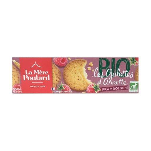 La Mere Poulard Les Galettes D'Annette BIO - francuskie ciastka malinowe 100g