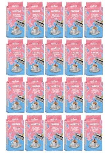 Lavazza Crema e Gusto Dolce 250g kawa mielona x20
