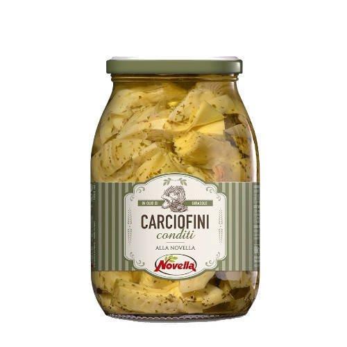 Novella Carciofini Conditi - 1062 ml karczochy z przyprawami