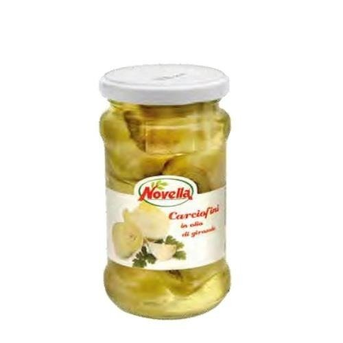 Novella Carciofini in olio di girasole - 314 ml karczochy całe