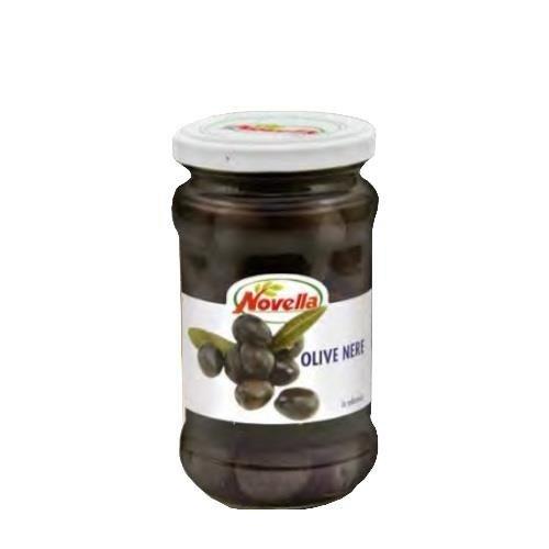 Novella Olive Nere Medie - 314 ml oliwki czarne średnie w solance