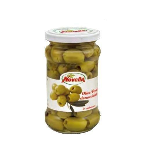 Novella Olive Verdi Denocciolate in Salamoia - 314 ml oliwki zielone drylowane
