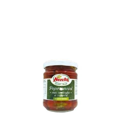 Novella Peperoncini Acciughe e Capperi - 212 ml papryczki z sardelami i kaparami