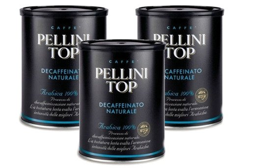 Pellini Top Bezkofeinowa 250g kawa mielona x3