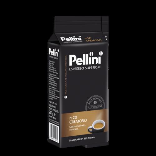 Pellini n'20 Cremoso 250g kawa mielona x 10