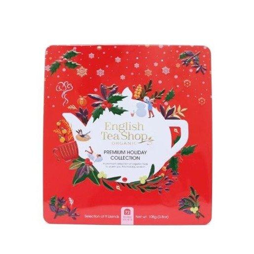 Premium Holiday Collection - Świąteczny czerwony zestaw 72 saszetki