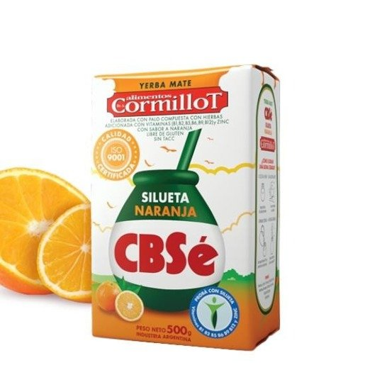 Yerba Mate CBSe Silueta Naranja 500g