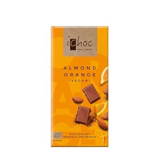 iChoc - czekolada z migdałami i kawałkami pomarańczy 80g